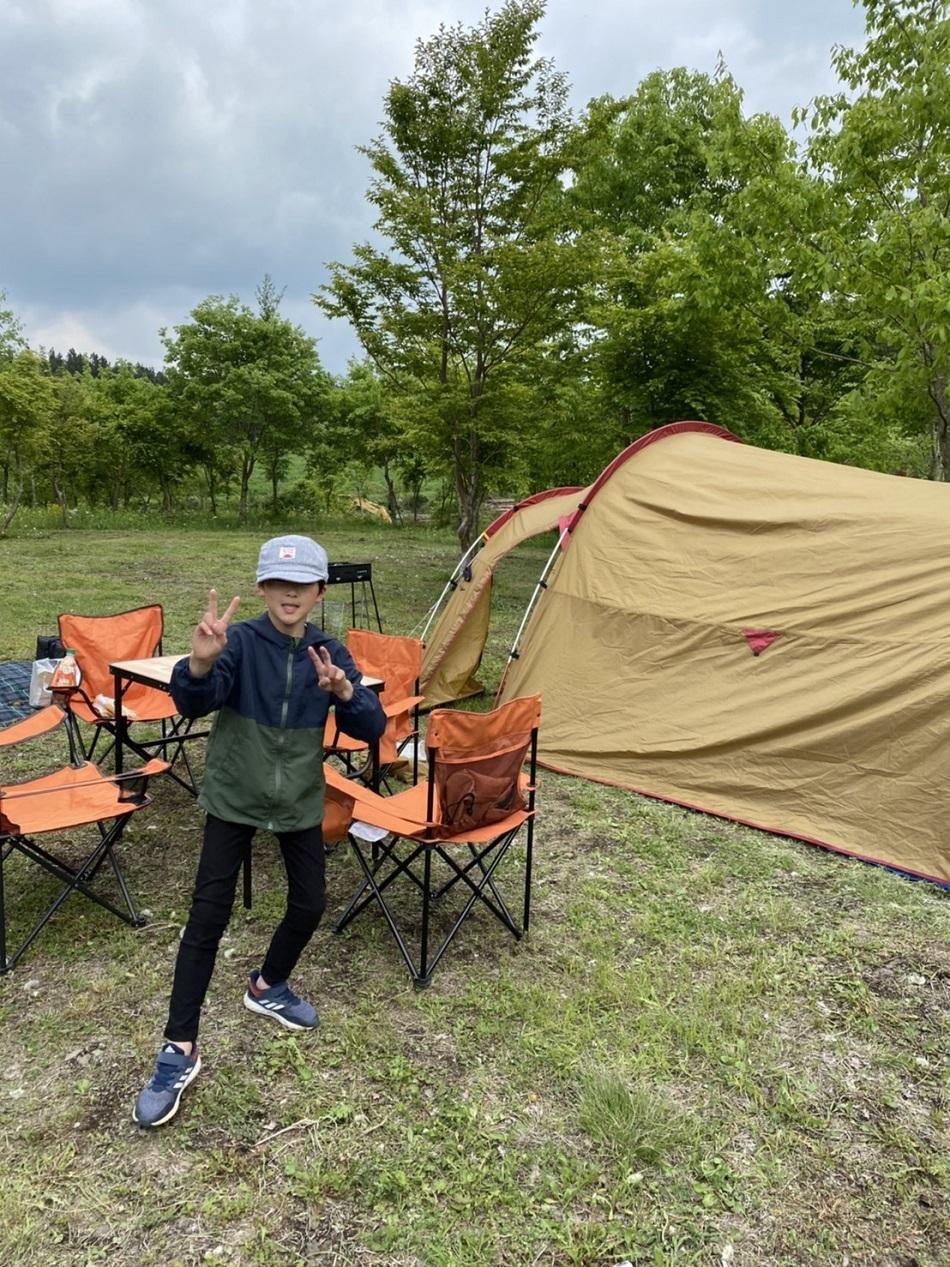 キャンプ こども